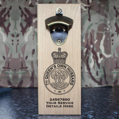7th Queens Own Hussars Wall-Mounted Bottle Opener