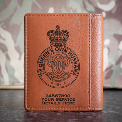 7th Queens Own Hussars Credit Card Wallet