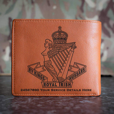 8th Kings Royal Irish Hussars Leather Wallet