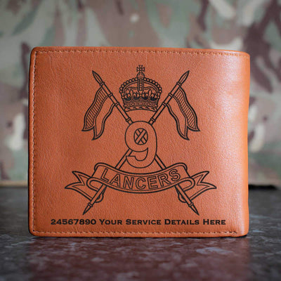 9th Queens Royal Lancers Leather Wallet