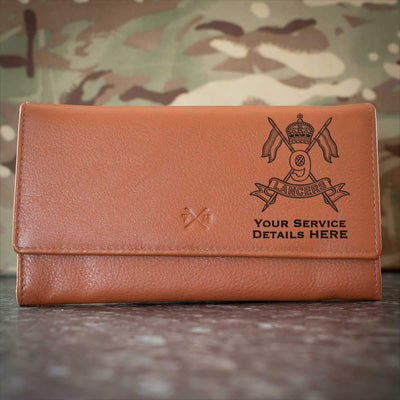 9th Queens Royal Lancers Leather Purse