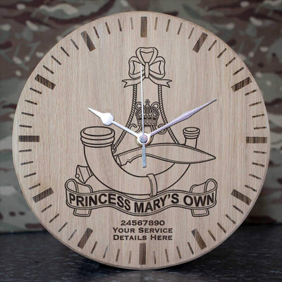 10th (PMO) Gurkha Rifles Oak Clock
