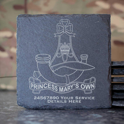 10th (PMO) Gurkha Rifles Slate Coaster