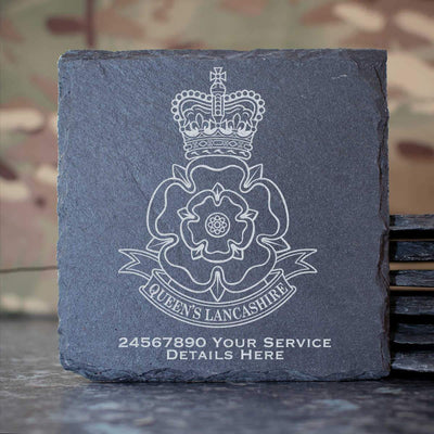 Queens Lancashire Regiment Slate Coaster