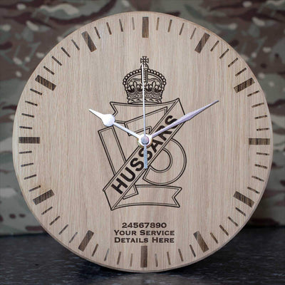 13th Hussars Oak Clock