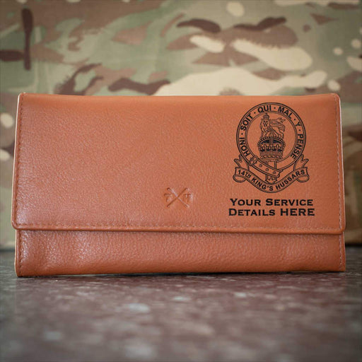 14th Kings Hussars Leather Purse