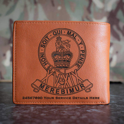 15th 19th Kings Royal Hussars Leather Wallet