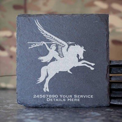16 Air Assault Brigade Pegasus Slate Coaster