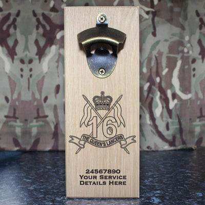 16th 5th The Queens Lancers Wall-Mounted Bottle Opener