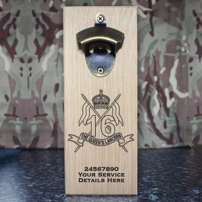 16th The Queens Lancers Wall-Mounted Bottle Opener