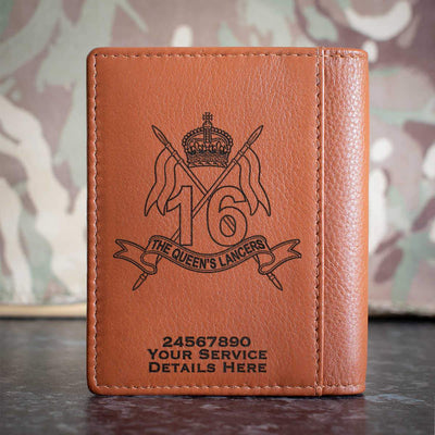 16th The Queens Lancers Credit Card Wallet