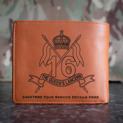 16th The Queens Lancers Leather Wallet