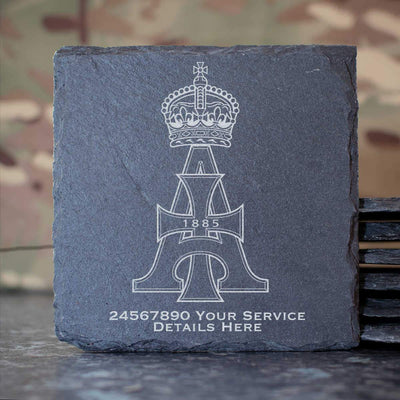 19th Royal Hussars Slate Coaster