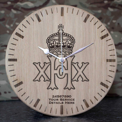20th Hussars Oak Clock