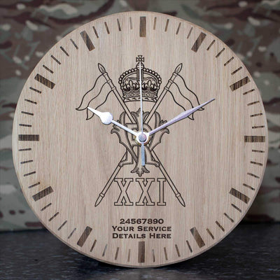 21st Lancers Oak Clock