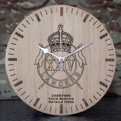 24th Lancers Oak Clock
