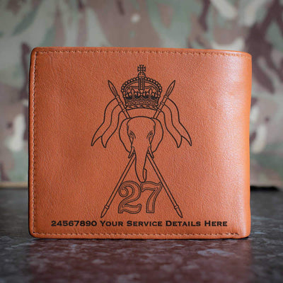 27th Lancers Leather Wallet