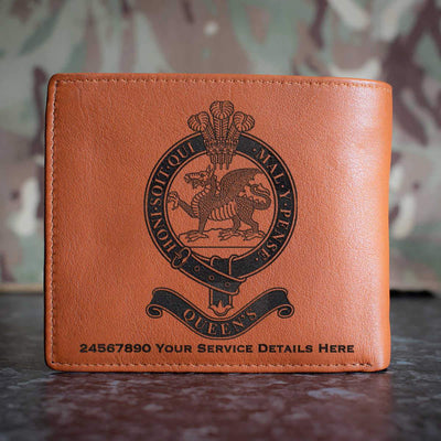 Queens Regiment Leather Wallet