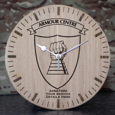 Armour Centre Oak Clock