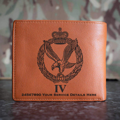 Army Air Corps 4 Regt Leather Wallet