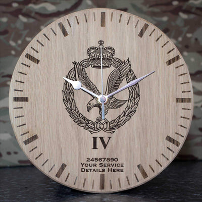 Army Air Corps 4 Regt Oak Clock