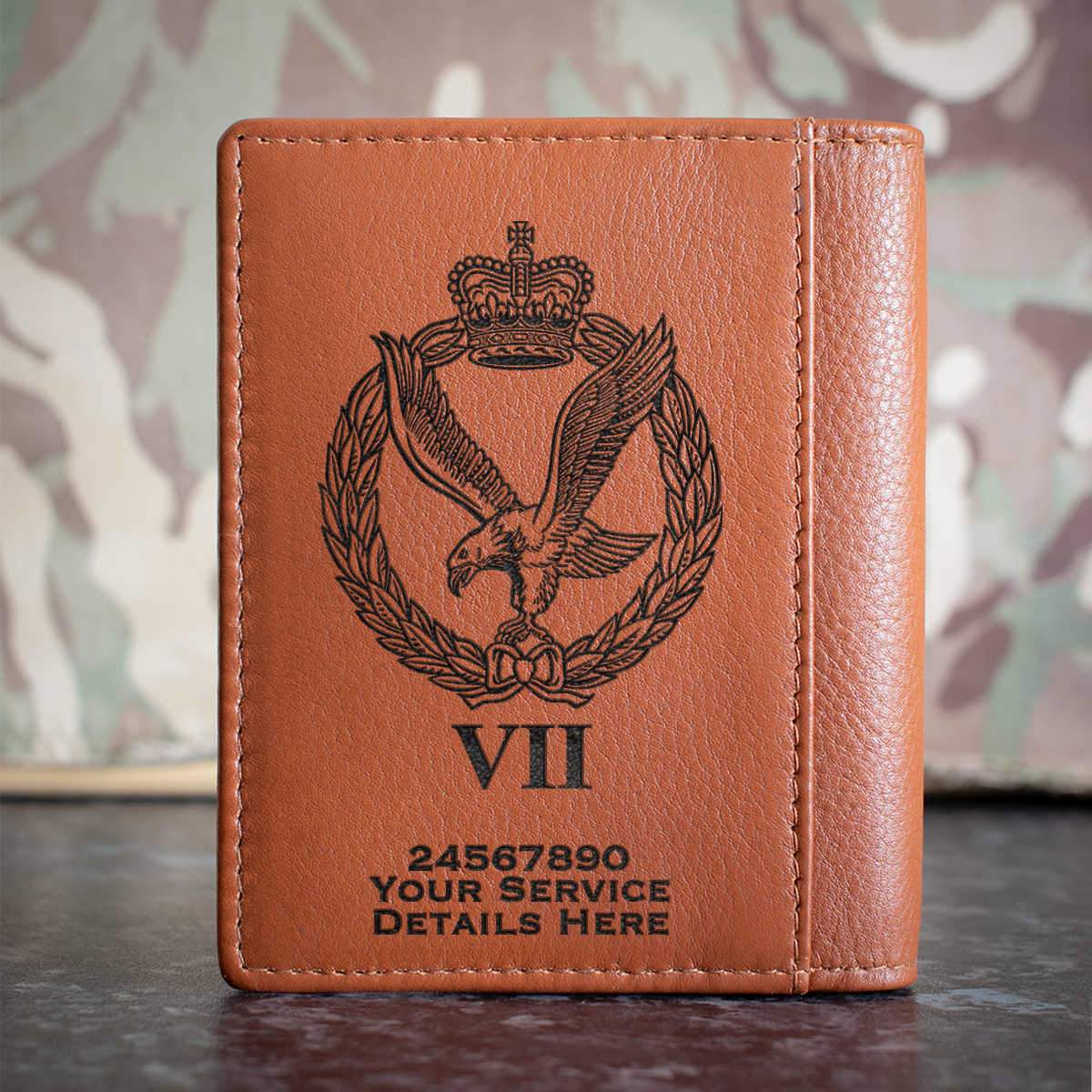 Army Air Corps 7 Regt Credit Card Wallet