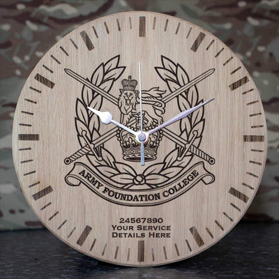 Army Foundation College Oak Clock