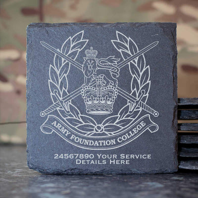 Army Foundation College Slate Coaster