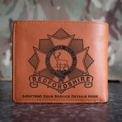 Bedfordshire Regiment Leather Wallet