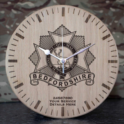 Bedfordshire Regiment Oak Clock