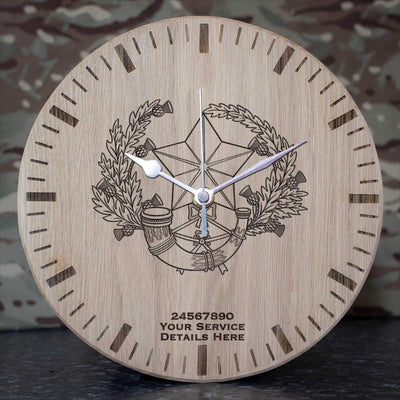 Cameronians (Scottish Rifles) Oak Clock