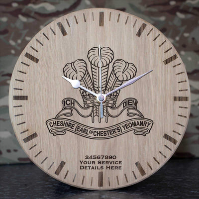 Cheshire Yeomanry Oak Clock