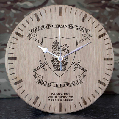 Collective Training Group Oak Clock