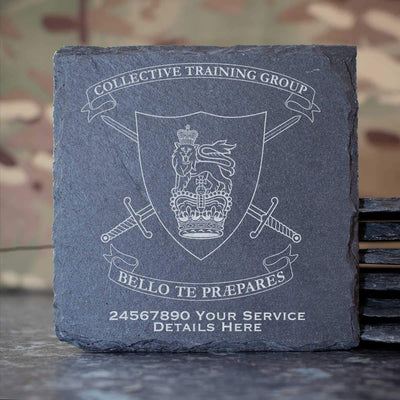 Collective Training Group Slate Coaster