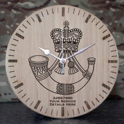 Rifles Oak Clock