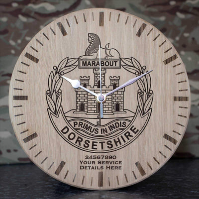 Dorset Regiment Oak Clock