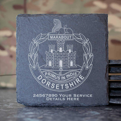 Dorset Regiment Slate Coaster