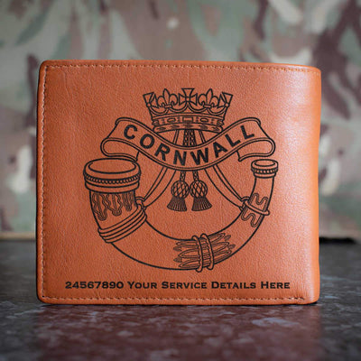 Duke of Cornwalls Light Infantry Leather Wallet