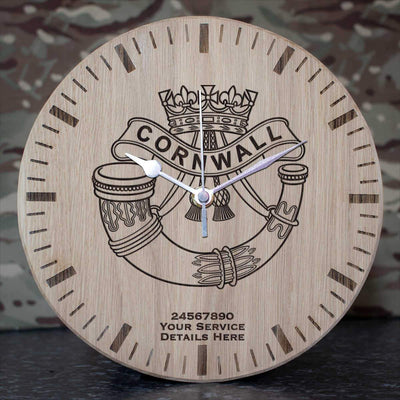 Duke of Cornwalls Light Infantry Oak Clock