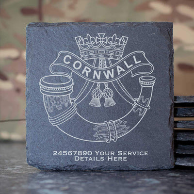 Duke of Cornwalls Light Infantry Slate Coaster