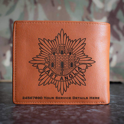 East Anglia Regiment Leather Wallet