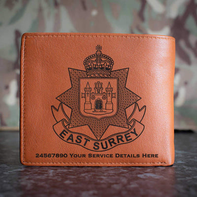 East Surrey Regiment Leather Wallet
