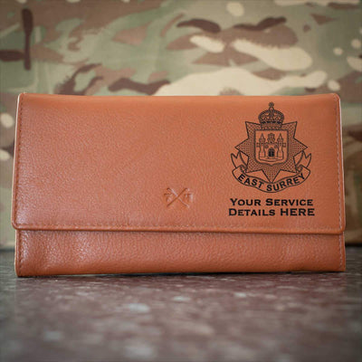 East Surrey Regiment Leather Purse
