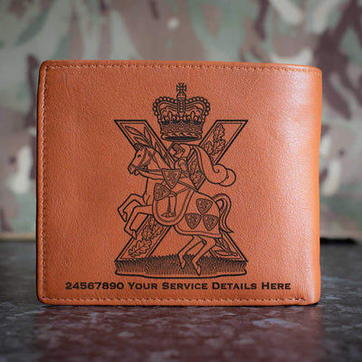 Fife and Forfar Yeomanry Scottish Horse Leather Wallet