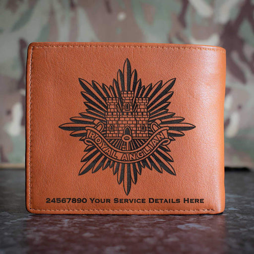 Royal Anglian Regiment Leather Wallet