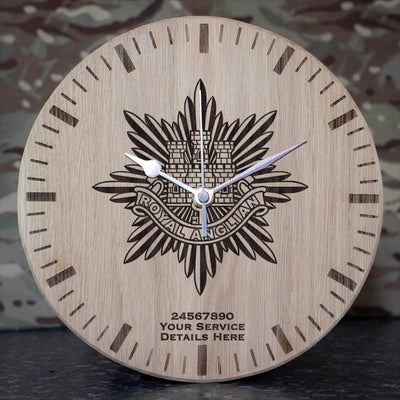 Royal Anglian Regiment Oak Clock