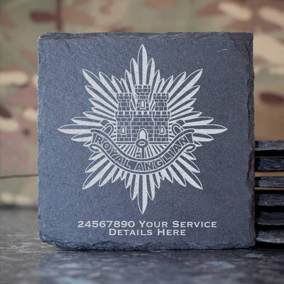 Royal Anglian Regiment Slate Coaster
