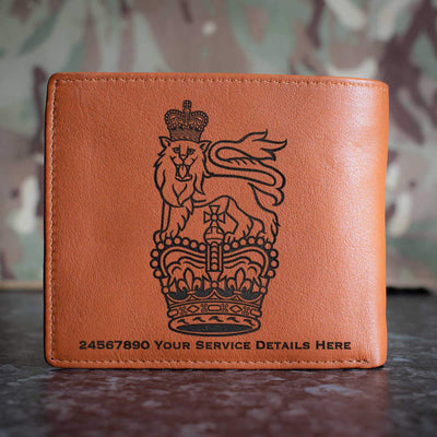 General Staff Cap Badge Leather Wallet