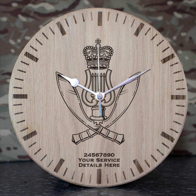 Gurkha Band Oak Clock