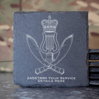 Gurkha Band Slate Coaster